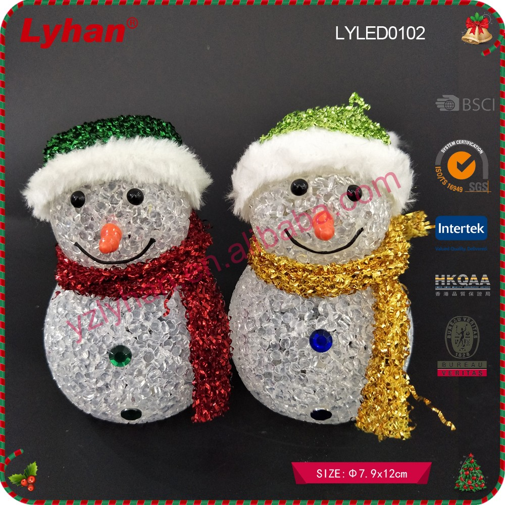 new design PVC material color change light LED snowman for Christmas occasion decor