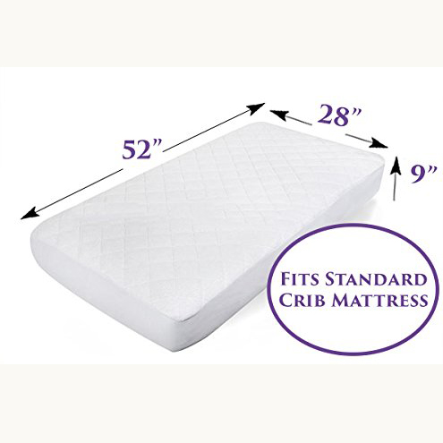 Hot sell on Amazon Cotton terry surface quilted fabric waterproof Baby crib protector anti bacteria stain resistance - Jozy Mattress | Jozy.net