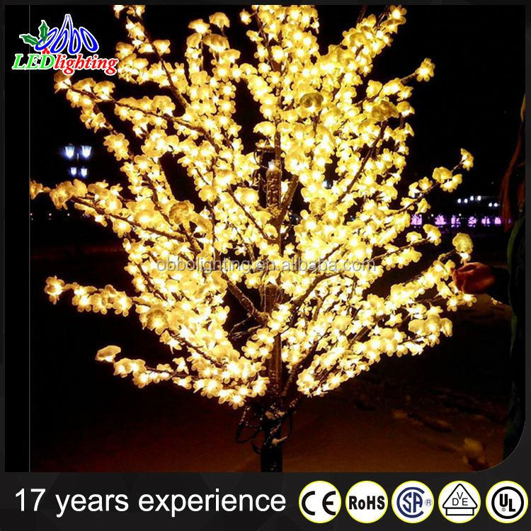 Romantic cherry blossom christmas tree led branch lights