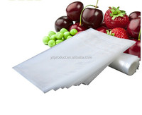 Plastic vacuum embossed packing bag on a roll