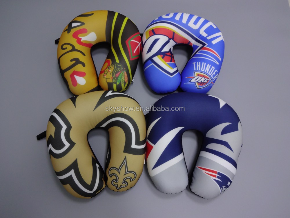 America famous basketball team printed logo microbead neck pillow