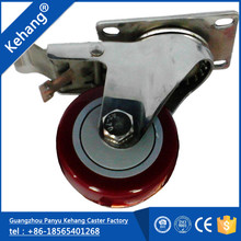 2016 cheap hot sale wholesale polyurethane Guangzhou 100mm trolley fixed caster wheel