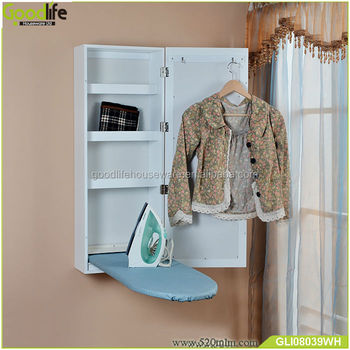 Middle East hot style wall mounted ironing board in cabinet with mirror