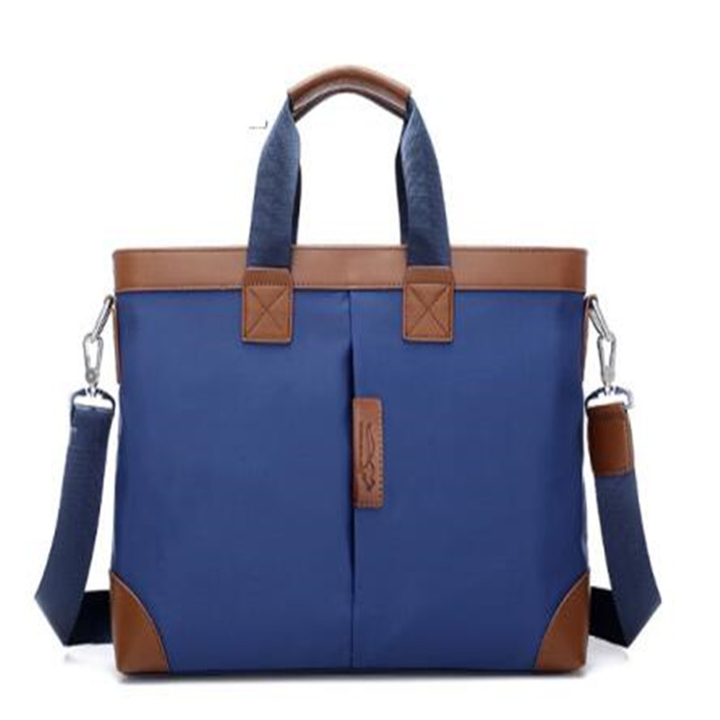 2018 British European fashion classic business <strong>shoulder</strong> tote handbags briefcase Men laptop bags