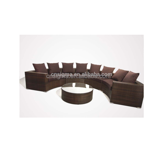 2015 Newest resin wicker salon furniture sofa