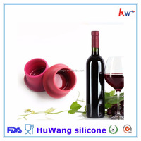 Hot selling colorful food grade silicone wine lids silicone wine stopper