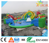 Summer Water Games ,giant dinosaur inflatable water park ,big swimming pool from China factory