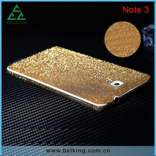 For Galaxy Note 5 Diamond Screen protector Glitter skin for Samsung Galaxy Note 3 4 5 sticker