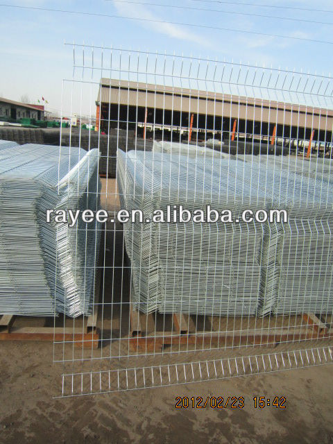 Galvanized Welded Curved Wire Mesh Fence Panel/Security Fence Panel/Welded curved fence