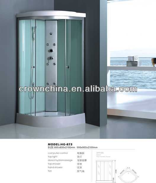 shower cabin,steam shower room,shower enclosure double roller sliding shower door