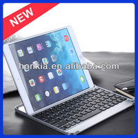New arrival aluminum wireless bluetooth keyboard for ipad air keyboard case