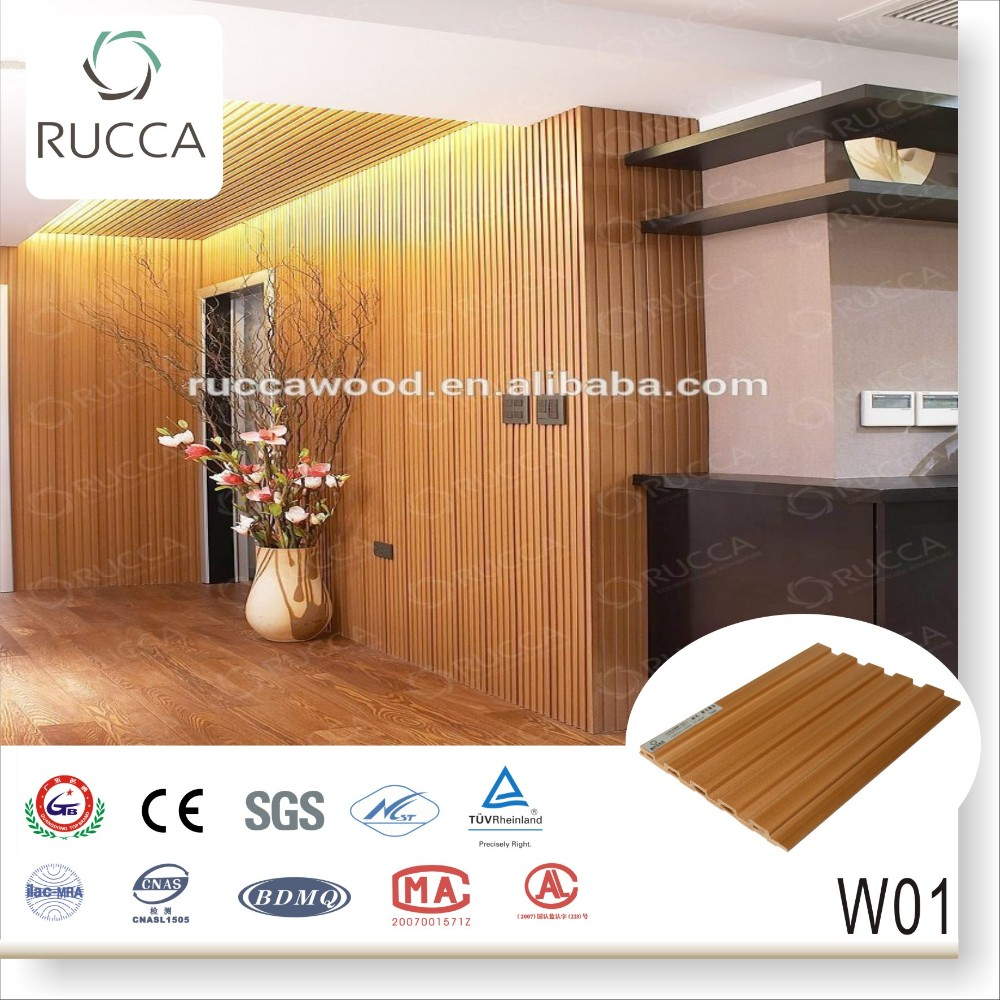 WPC wood composite panel for wall covering, modern design cheap interior wall paneling 159*10mm China Supplier
