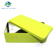 Customized packaging Gift/Tea/Biscuit packaging rectangular shape tin can