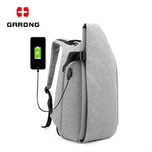 Fashion korean Print spot chargeable backpack with usb charger