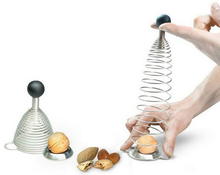Stainless Steel Spring Sheller Walnut Cracker Nutcrackers