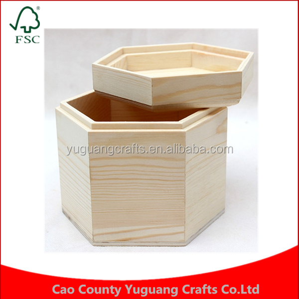 Wholesale price natural wood Color storage Packing Craft Jewelry Children Crafts Toys Art Decor box