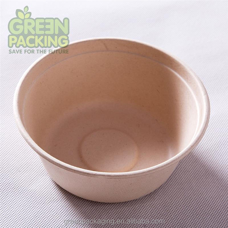 Biodegradable white unbleached disposable sugarcane disposable bowl