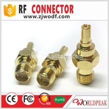 RP-SMA male to CRC9 male connector silver adapter