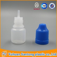 2015 BV and FDA PE empty e-liquid clean empty bottle with childproof cap for USA electronic cigarette