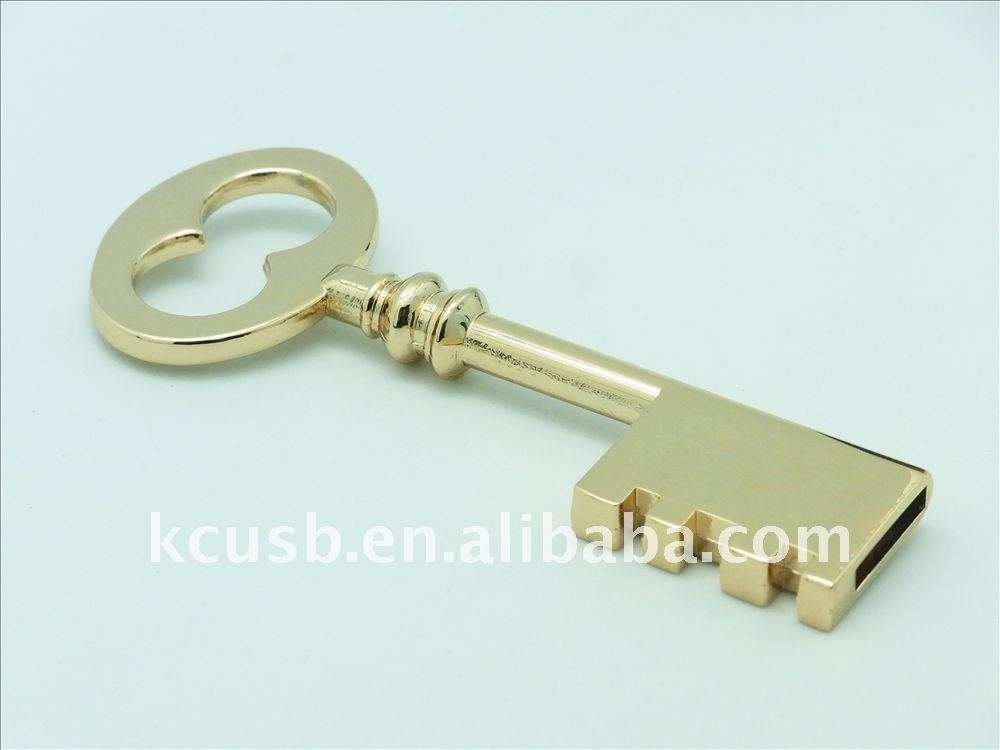 Gold Promotional Price usb key style