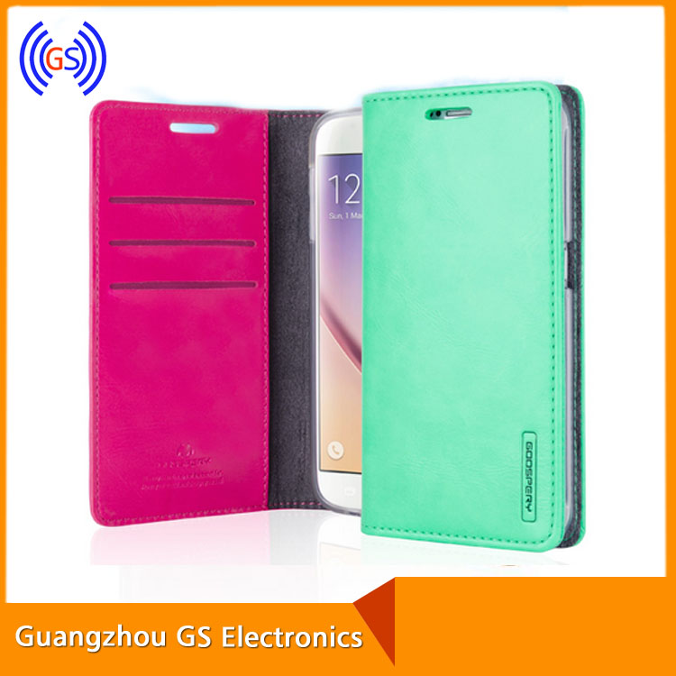 Elegant Mobile Phone Flip Leather Case Handmade Wallet Case For Sony Z5 Mix Colors