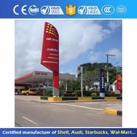 Professional Outdoor Advertising Board Remote Control Gas Station Stand Pylon Sign