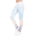 OEM manufactory Mandala Mint Print Fitness High Elasticity Leggings for women