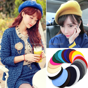Women Beanie Wool French Beret Baggy Hat