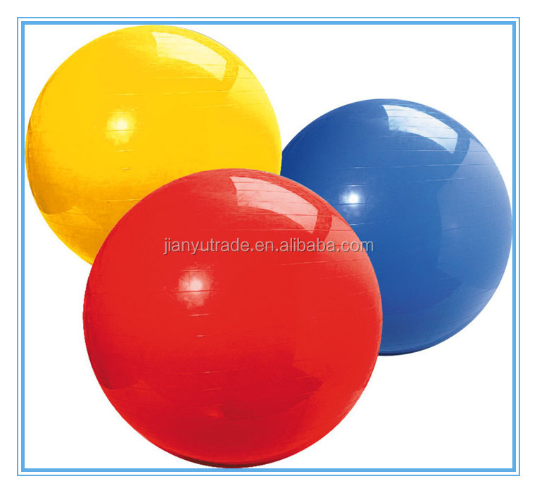 Colorful Eco-friendly PVC Gym Ball and bounce yoga ball for body building