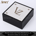 Hot Selling Fashion Black Acrylic Display Case With Steel Panel