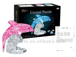 funny dolphin 3D crystal jigsaw puzzle