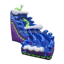 Giant ocean theme inflatable wave water slide for commerical use
