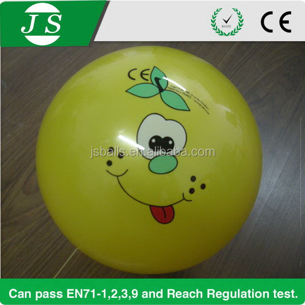 Fashionable top sell PVC 30cm plastic ball