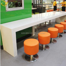 Aiweiluo Fast Food Restaurant Furniture Dining Table tops ,solid surface coffe shopTable with Chairs