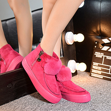 2016 colorful non-slip platform shoes winter boots from china