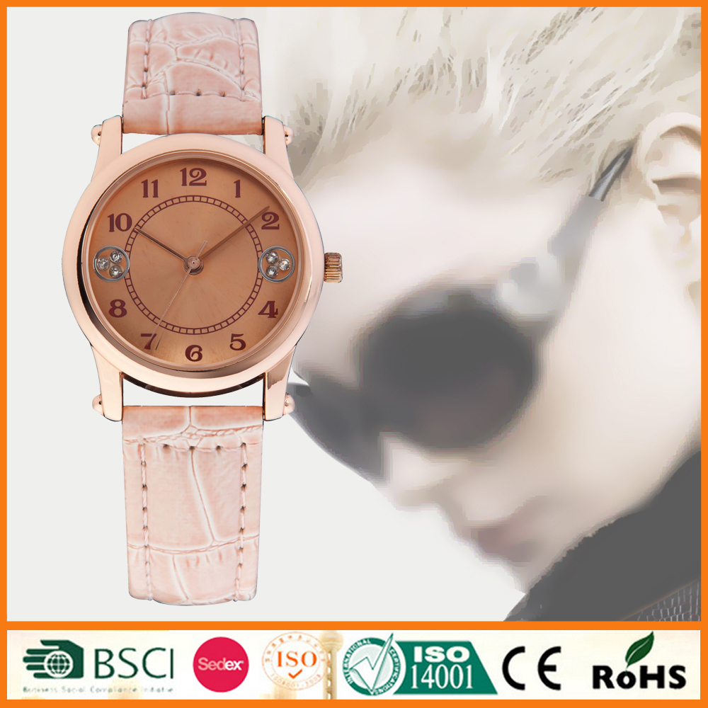 Leather Strap Fashion Branded Watch For Womens With CE And Rohs SYL110213