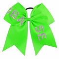 I Base Cheerleading Glitter Bling Cheer Bows With Elastic Band for School
