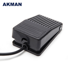 Factory Aluminum 240V Waterproof Electric Foot Pedal Switch