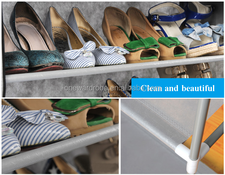 Multifunctional big size non-woven fabric shoe rack with cover X-051