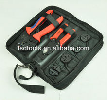 new design multi-function combined crimping tools set with crimping tool,cable cutter,4 dies