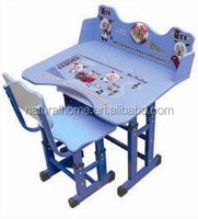 Wood furniture children wooden school supplies wholesale cartoon study student table and chair
