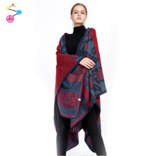 2017 Hot Sale Winter Loose New Design Printing Wool /Cashmere Pashmina Shawl Nepal