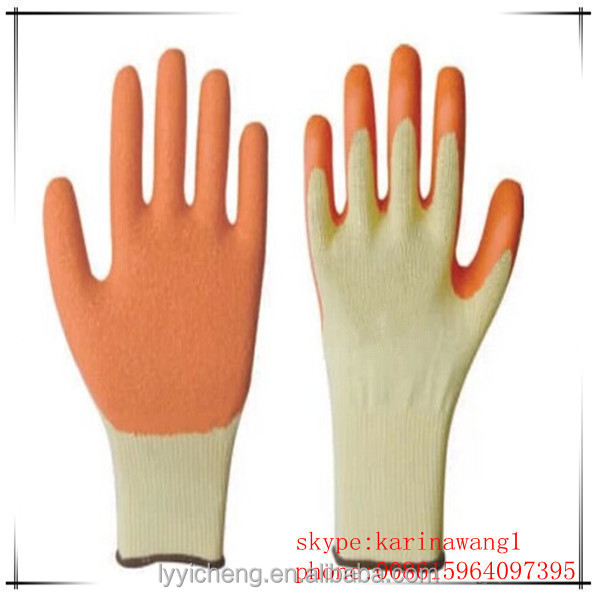 Textured latex coated gloves construction use, custom weight lifting gloves