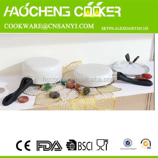 alibaba website names cooking materials aluminum korea color ceramic coated cookware set