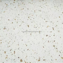 Fashion color white sparkle quartz stone slab, quartz stone countertop for kitchen design