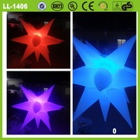 colorful led inflatable star light party wedding decoration