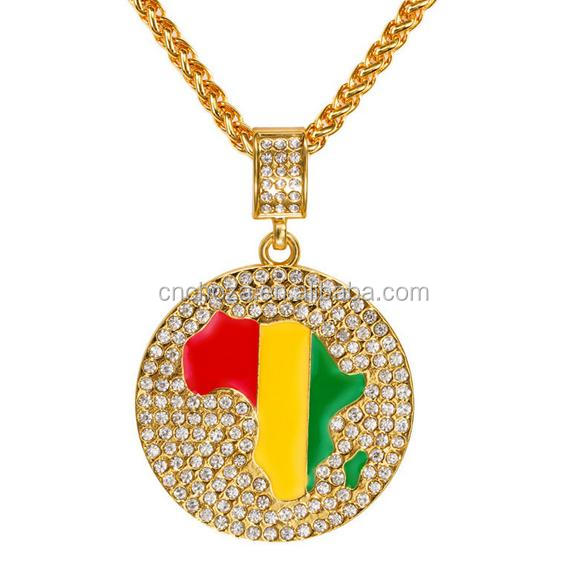 Z53430B wholesale women fashion Map of Africa pendant women men necklace