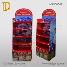 5 tiers custom books floor display shelf for bookstore hot promotion