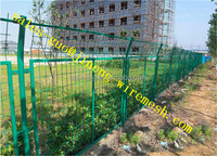 AP factory hot sales Green PVC coated wire mesh /euro fence//holland wire mesh
