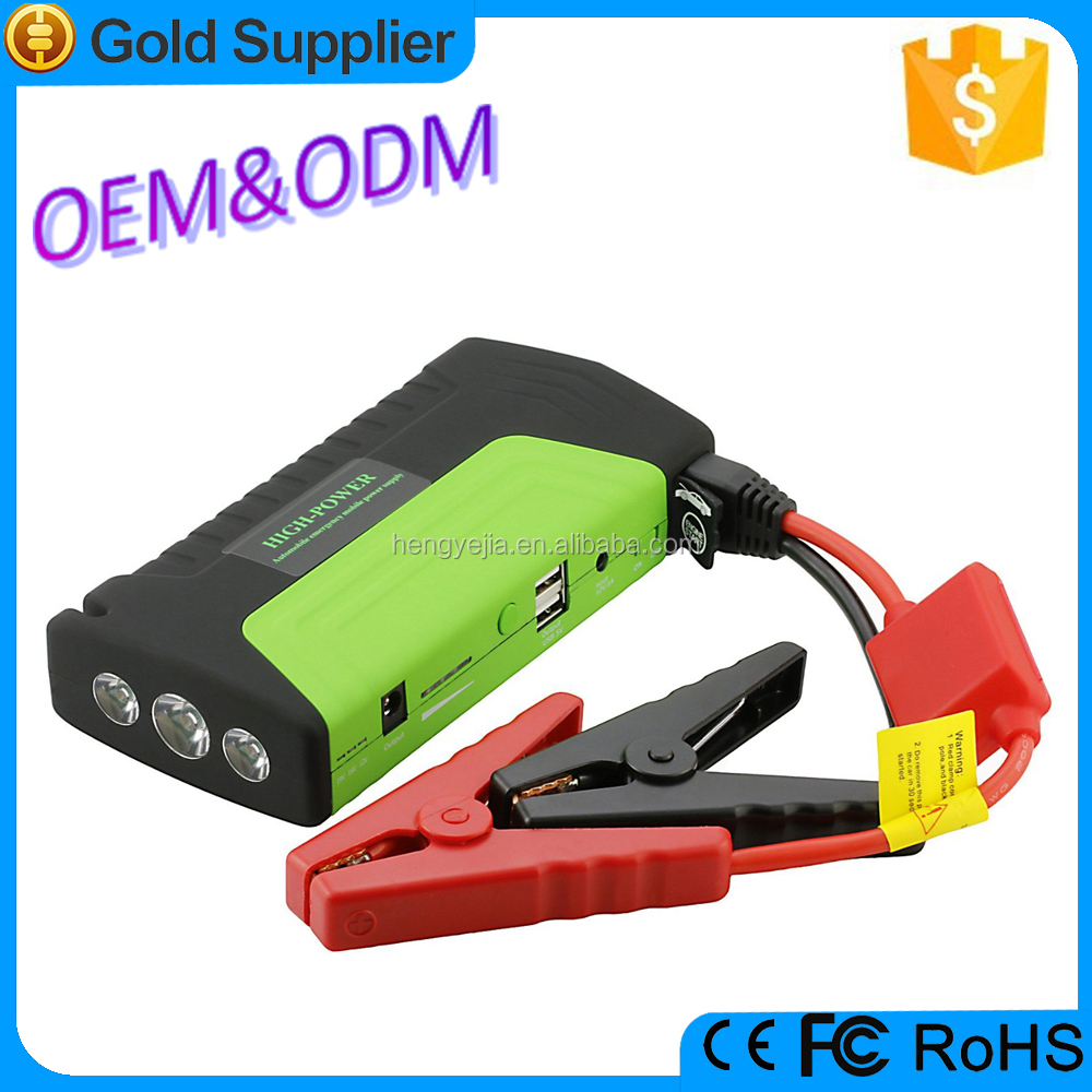 2016 factory price car accessories battery charger jump starter power bank 15000mah